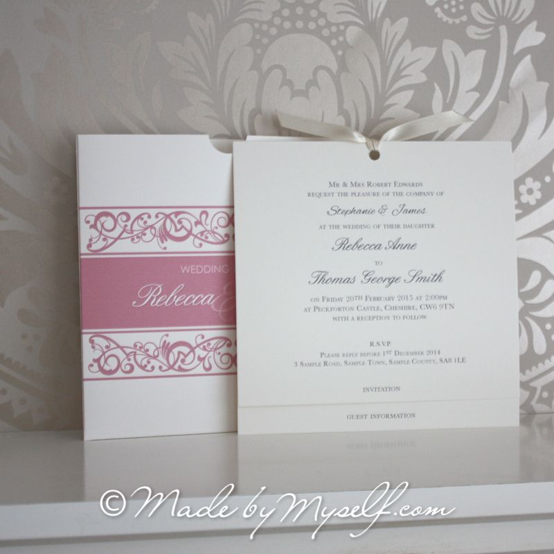 Wedding Invitations Pocket Style